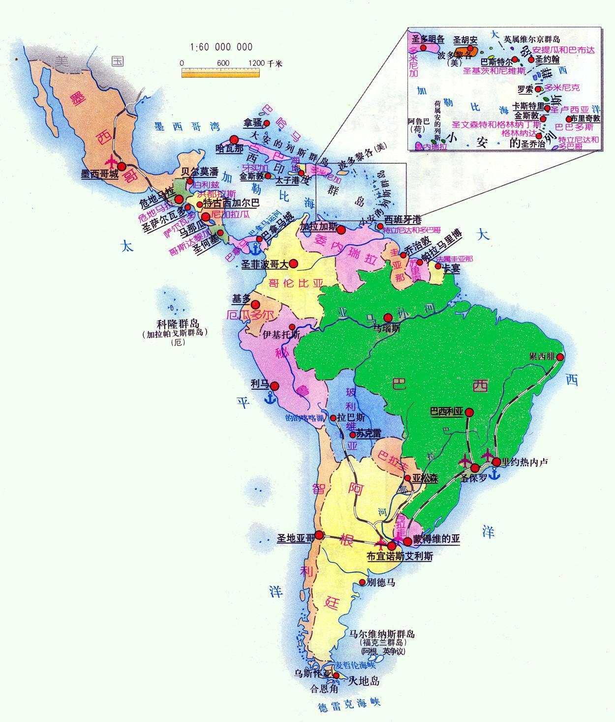 乌拉圭等南美洲